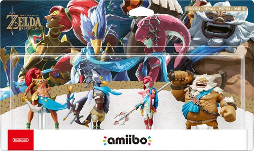 Pack d'amiibo regroupant Daruk, Mipha, Revali et Urbosa (Breath of the Wild)