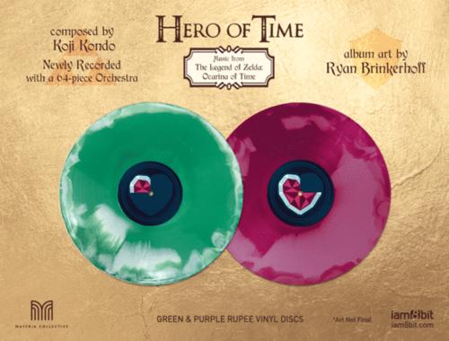 Disques de l'édition vinyle de Hero of Time