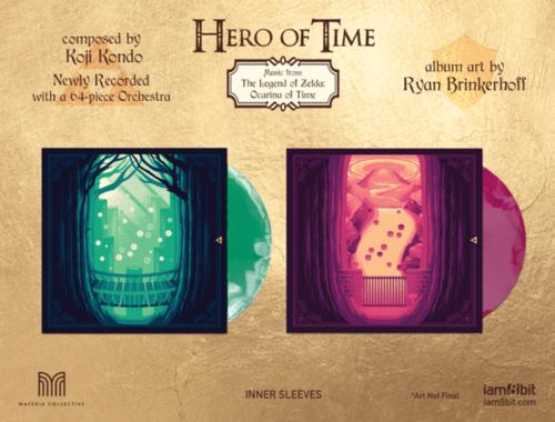 Étuis intérieurs de l'édition vinyle de Hero of Time
