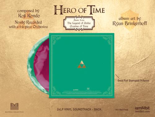 Dos de la pochette de l'édition vinyle de Hero of Time