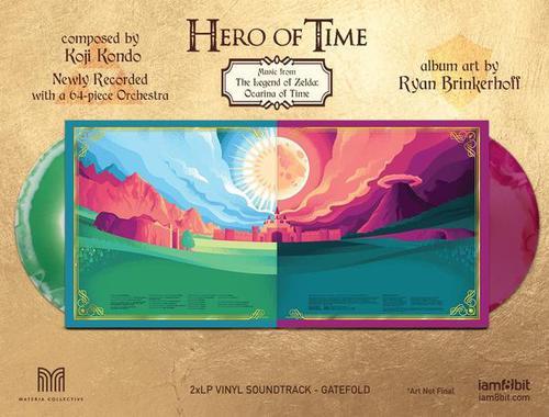 Pochette ouvrante de l'édition vinyle de Hero of Time