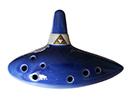 Ocarina céramique 9 trous (bleu)